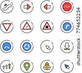 line vector icon set  ... | Shutterstock .eps vector #774652234