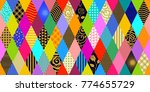 colorful carnival background.... | Shutterstock .eps vector #774655729