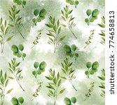 watercolor seamless pattern.... | Shutterstock . vector #774658813