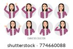 asian woman in office suit. set ... | Shutterstock .eps vector #774660088