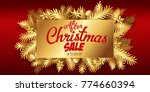 after christmas sale banner... | Shutterstock .eps vector #774660394