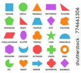 educational geometric shapes... | Shutterstock .eps vector #774661306