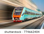 modern intercity train at the... | Shutterstock . vector #774662404