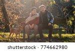 senior couple relaxing portrait ... | Shutterstock . vector #774662980