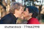 romantic senior couple portrait ... | Shutterstock . vector #774662998