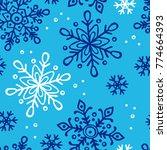 snowflakes. seamless vector... | Shutterstock .eps vector #774664393
