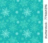 snowflakes. seamless vector... | Shutterstock .eps vector #774664396