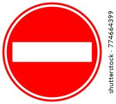 do not enter sign in red circle.... | Shutterstock .eps vector #774664399