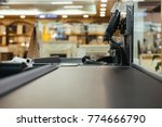 empty cashier work place at the ... | Shutterstock . vector #774666790
