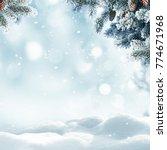 christmas winter background... | Shutterstock . vector #774671968