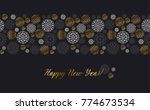 luxury gold and black header... | Shutterstock .eps vector #774673534
