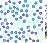 seamless pattern with forget me ... | Shutterstock .eps vector #774675916