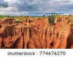 tatacoa desert  huila  tolima ... | Shutterstock . vector #774676270
