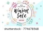 elegant and fun winter... | Shutterstock .eps vector #774678568