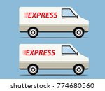 white express delivery van... | Shutterstock .eps vector #774680560