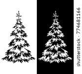 christmas fir trees  symbolical ... | Shutterstock .eps vector #774681166