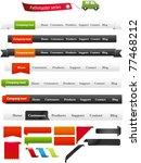 navigation menus   pathmaster... | Shutterstock .eps vector #77468212