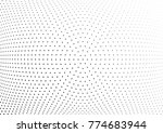 abstract halftone wave dotted... | Shutterstock .eps vector #774683944
