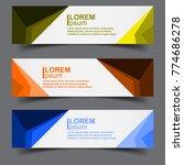 horizontal business banner... | Shutterstock .eps vector #774686278