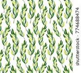 seamless watercolor pattern... | Shutterstock . vector #774688474