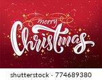 merry christmas typography... | Shutterstock .eps vector #774689380
