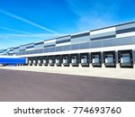 industrial building and... | Shutterstock . vector #774693760