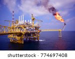 offshore construction platform... | Shutterstock . vector #774697408