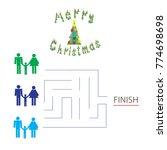 illustration of a maze  riddles....   Shutterstock .eps vector #774698698