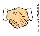 collective handshake  symbol .... | Shutterstock .eps vector #774701854