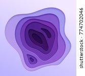 abstract vector background in... | Shutterstock .eps vector #774702046