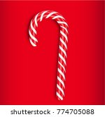 high detailed red candy cane ... | Shutterstock .eps vector #774705088