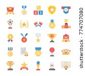 flat vector icons of rewards... | Shutterstock .eps vector #774707080
