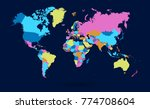 color world map vector | Shutterstock .eps vector #774708604