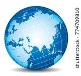 beautiful 3d vector globe.... | Shutterstock .eps vector #774709810