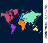 world map. europe asia america... | Shutterstock .eps vector #774710704