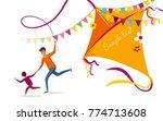 happy makar sankranti holiday... | Shutterstock .eps vector #774713608
