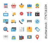 collection of shopping and... | Shutterstock .eps vector #774716104