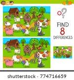 cartoon illustration of finding ... | Shutterstock .eps vector #774716659