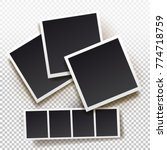 set of instant photo frame.... | Shutterstock .eps vector #774718759