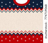ugly sweater merry christmas... | Shutterstock .eps vector #774719068