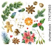 big christmas collection of... | Shutterstock . vector #774719833