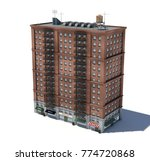 3d rendering of a red brick... | Shutterstock . vector #774720868