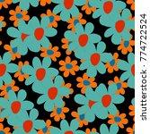 floral seamless pattern. cute... | Shutterstock .eps vector #774722524
