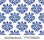 blue and white ceramic pattern... | Shutterstock .eps vector #774730603
