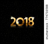 happy new year 2018 background... | Shutterstock .eps vector #774733588