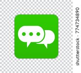 speech bubble icon on a green... | Shutterstock .eps vector #774734890