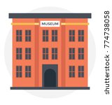 a high rise museum icon in... | Shutterstock .eps vector #774738058