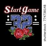 start game slogan.shimmering... | Shutterstock .eps vector #774738148