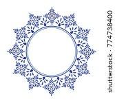 blue ornamental round ... | Shutterstock .eps vector #774738400