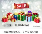 boxing day sale banner.... | Shutterstock .eps vector #774742390